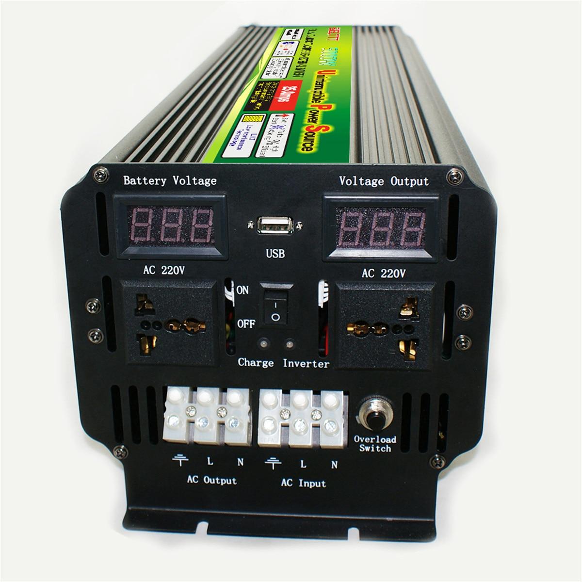 5000 wat 10000W (szczyt) 12/24V do 220V 60Hz UPS przetwornica napięcia Solar/Wind akumulator LCD napięcie samochodowa przetwornica napięcia