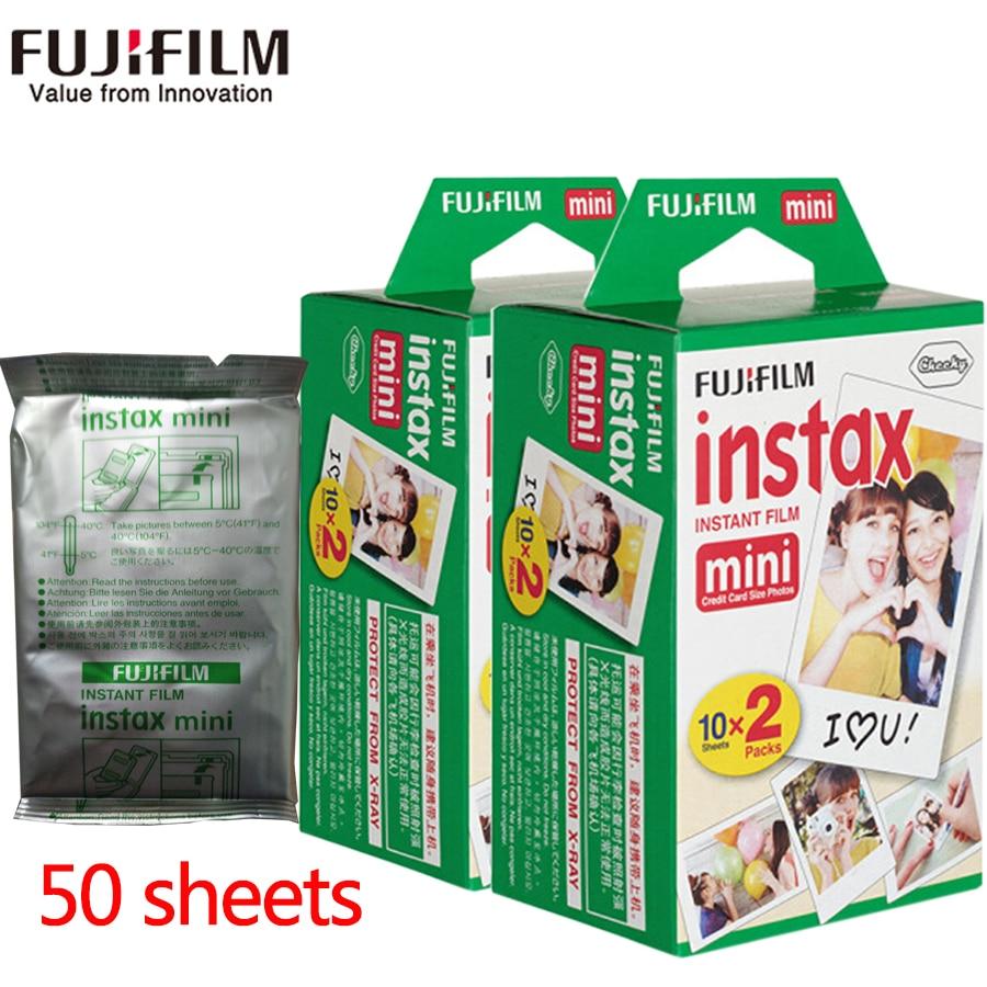 Fujifilm fuji instax mini 8 film 50 sheets white Edge film for Fujifilm Instant Camera mini 8 7s 25 50s 90 Photo Paper fujifilm instax mini 8 yellow