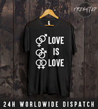 Love Is T Shirt Valentines Day LGBT Gay Lesbian Pride Parade Rainbow Gift New Shirts Funny Tops Tee  freeshipping