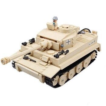 82011 World War II  German Heavy Tiger Tank Military WW2 Model Block Set Compatible for Boys  995pcs 21035 lego