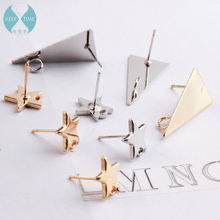 US $2.29 10% OFF|South Korea with the five pointed star triangle earrings earrings ear ear hook material accessories diy handmade earrings-in Jewelry Findings & Components from Jewelry & Accessories on AliExpress