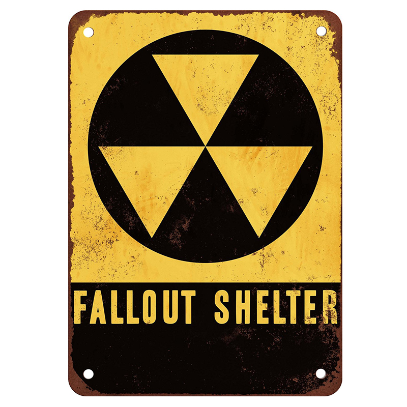 Fallout shelter! vintage tin signs retro metal plate the wall decoration for home shop bar