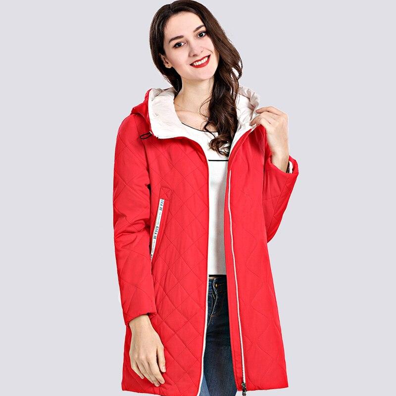 low priced 8340c ef1b2 2019 frühling Autum frauen Parka Mantel Dünne Frauen Jacken Lange Plus  Größe Mit Kapuze Hohe Qualität Warme Baumwolle Mäntel Neue outwear
