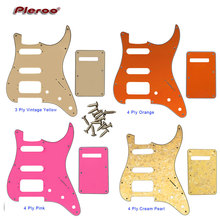 Pleroo Guitar Parts - For 72 11 Screw Hole Standard St Deluxe Humbucker Hss pickguard & Back Plate Scratch