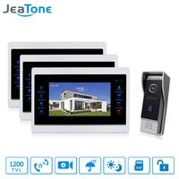 JeaTone 7 TFT Wired Video Door Phone System Intercom Video Doorbell Indoor Monitor 1200TVL Waterproof Outdoor