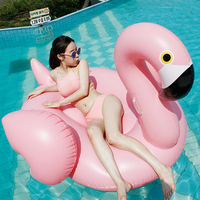 Swim ring water inflatable for flamingly handle oversized floating bed floating row adult unicorn swim boat