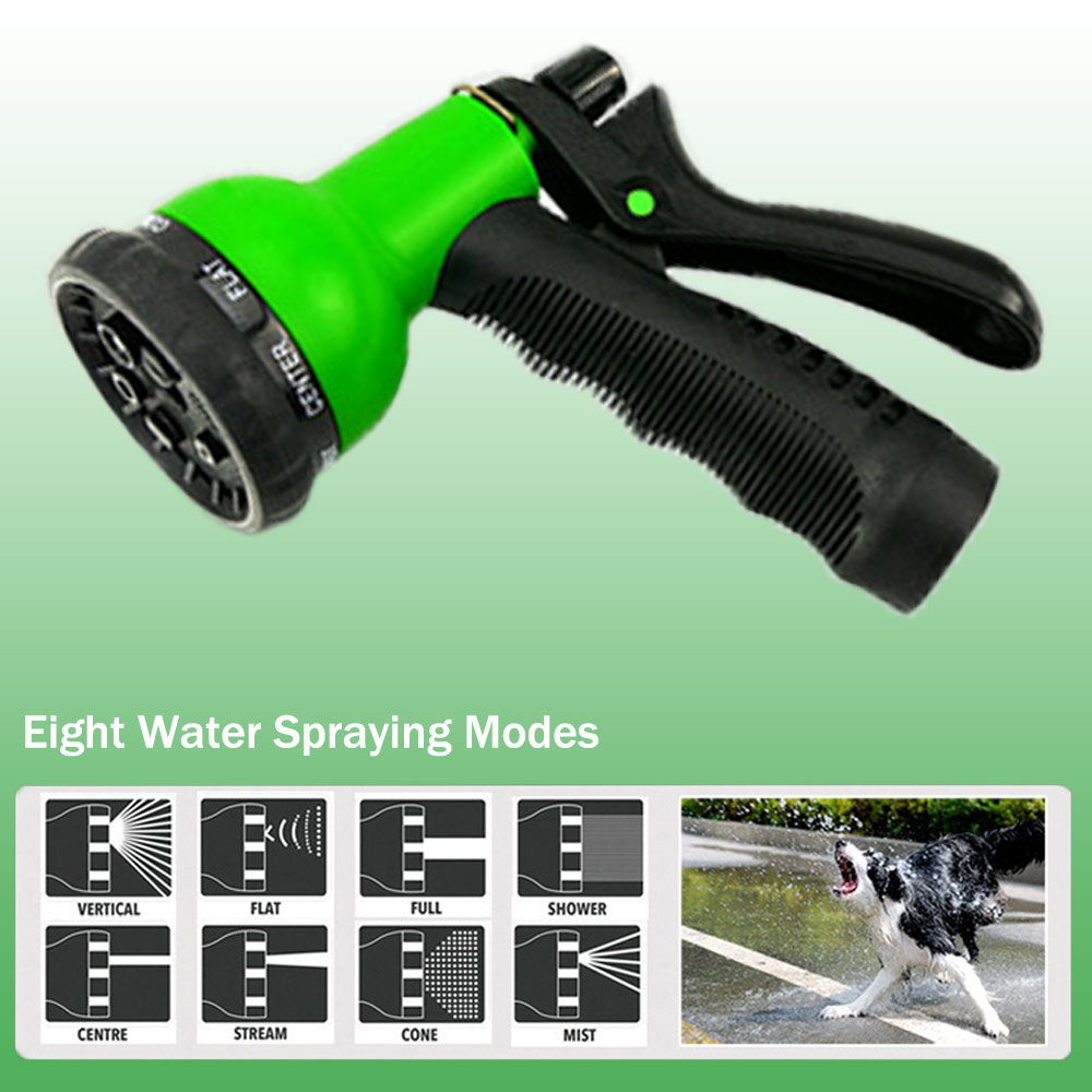 50ft 1 set of new high quality garden hose automatic telescopic magic hose gardening tools and equipment 8 function water gun in Watering Kits from Home Garden