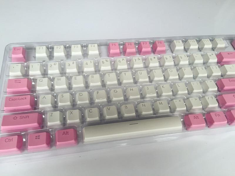 Translucidus Keycap White Pink match 108 PBT Keycap retroiluminado - Periféricos de la computadora - foto 3