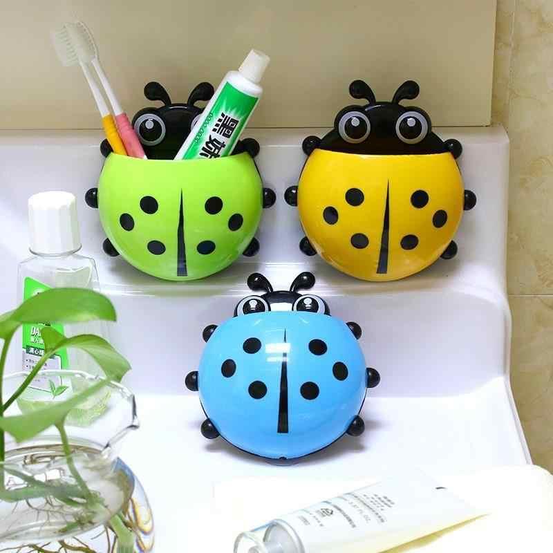 Kreatywny śliczne seven-star biedronka silne frajerem uchwyt na szczoteczki i pastę do zębów wc łazienka zabawki dla dzieci