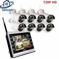 SSICON 8CH 720 P 12 дюймов ЖК дисплей Экран Беспроводной NVR Массив ИК Водонепроницаемый WI FI Пуля IP Камера видеонаблюдения Системы 1 ТБ HDD