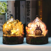 Novelty Kids Night Light Resin Glass Decorative Table Lamp 3 AAA Batteries Powered Baby Sleep