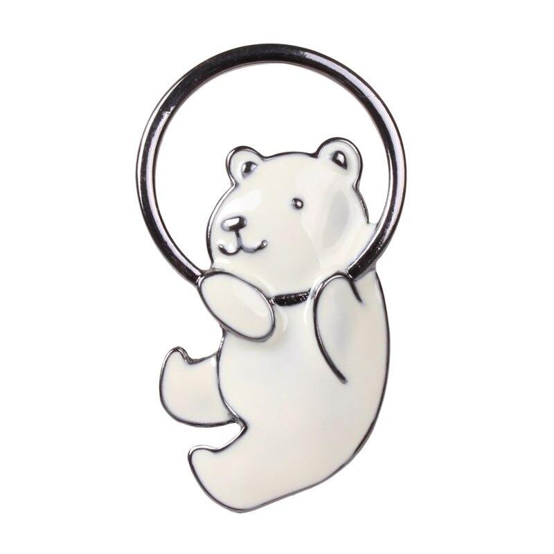 Металлический сплав, эмаль милые белый полярный медведь значок Броши Булавки Значки украшения на Рюкзак Пальто Костюмы сумка для детей для ...