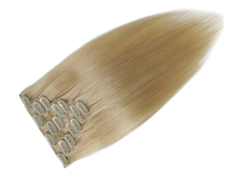 rechoo прямо малайзии номера-реми светло-русый #613 полный глава природный 100 г 7 шт. клип в наращивание волос человека