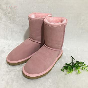Gorący australijski styl kobiety Unisex śnieg buty wodoodporne zimowe buty skórzane marki IVG buty outdoorowe rozmiar EU35-45 tanie i dobre opinie Dla dorosłych Slip-on Połowy łydki Futro 0-3 cm Zima Mieszkanie z Mieszkanie (≤1cm) Okrągły nosek Pluszowe Pasuje prawda na wymiar weź swój normalny rozmiar