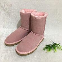 HOT Donne di Stile Australiano Unisex Stivali Da Neve Impermeabile Stivali  di Pelle di Inverno di b241c738e01