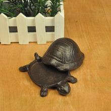 Turtle Cast Iron Stone Garden Decoration Key Holder Container Tabletop Animal Mi