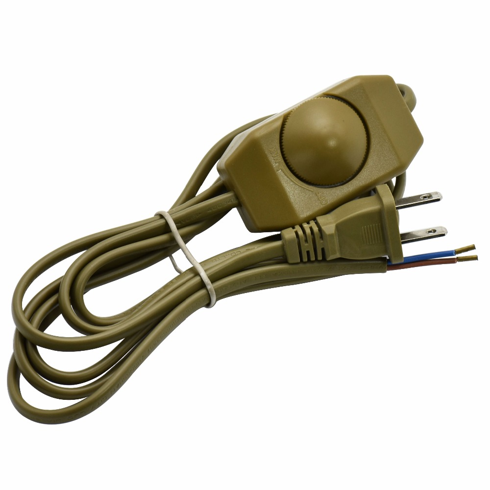 1 8m 2 0 75mm2 110v Us Plug Lamp Switch Wire With Dimming