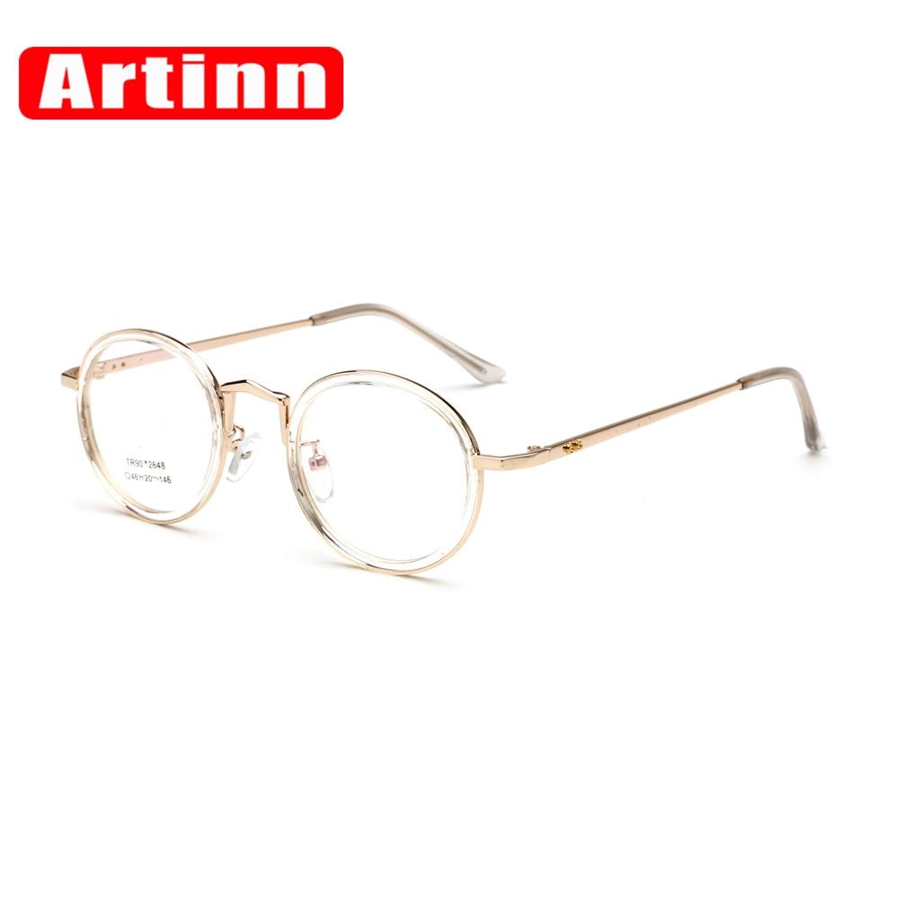 7cca7d37efca Super Light 2017 Women Men Unisex Retro Round Metal Frame Optical Eyewear  Clear Lens Glasses Nerd Spectacles Eyeglass 92648W