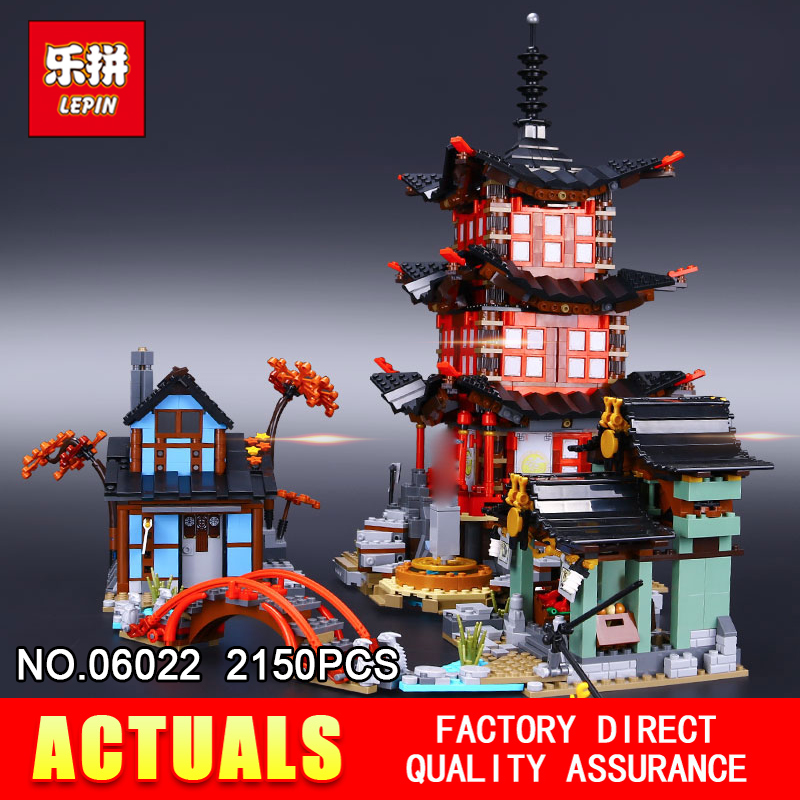 Lepin 06022 2150Pcs Building Series The 70751 Temple of Airjitzu Set Building Blocks Bricks Toys For Kids As Birthday Gifts in stock 2150pcs lepin 06022 city of stiix building blocks temple of airjitzu anime figures kids bricks toys clone 70751