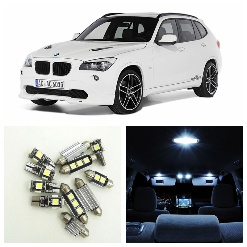 17pcs Canbus Error Free Car White LED Light Bulbs Interior Package Kit For 2004-2010 BMW X3(E83) Door License Plate Lamp 17pcs led canbus interior lights kit package for bmw 5 series e60 e61 2004 2010