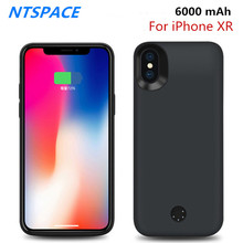 NTSPACE 6000mAh Fashion Portable Battery Charging Case For iPhone XR Power Case External Power Bank Pack Battery Charger Cover