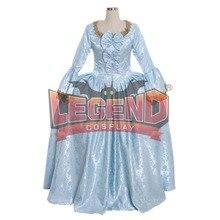 Marie Antoinette платье Rococo 18 век гофрированное синее платье с открытой спиной халат a la francaise