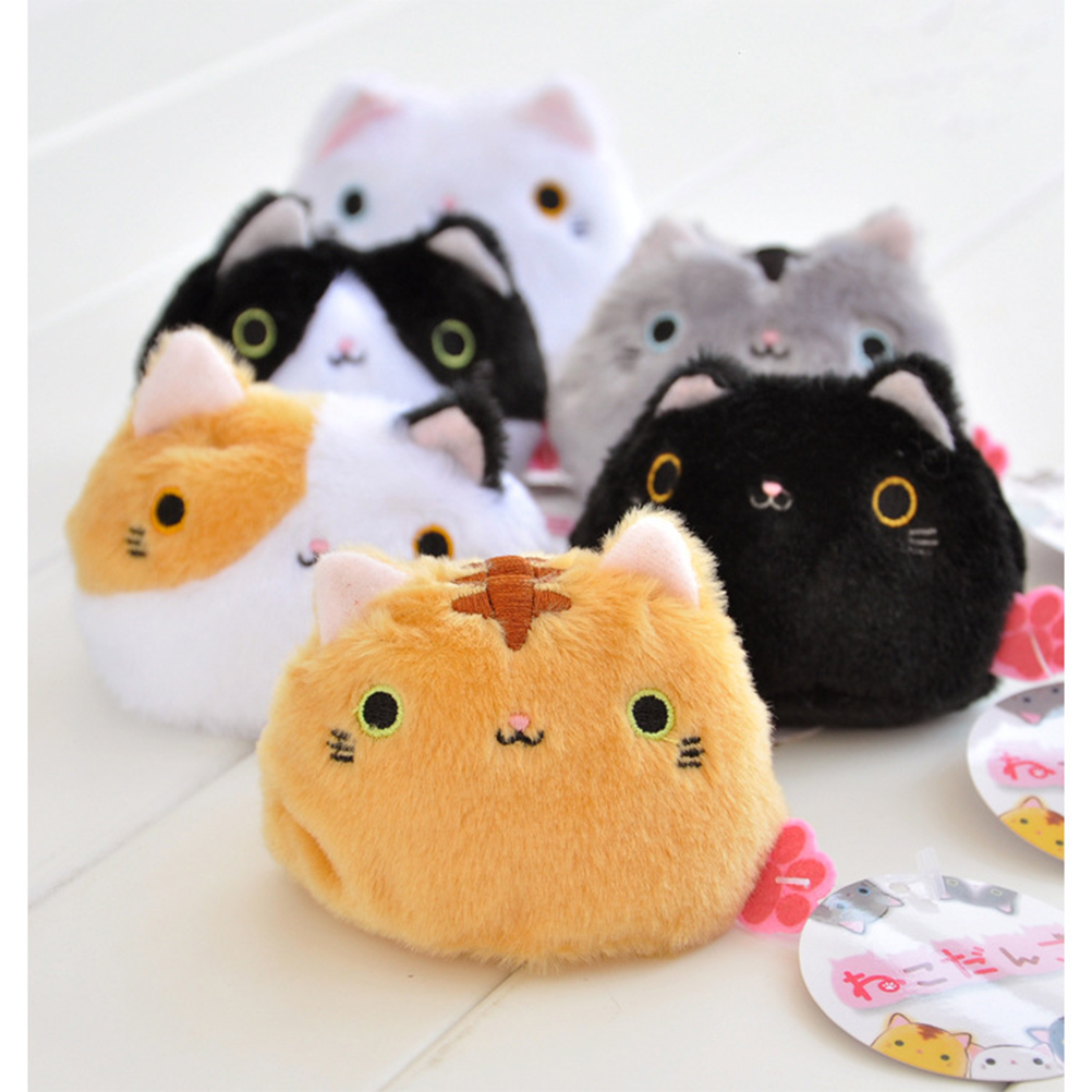 7CM Kawaii Lovely Cute Cats Stuffed TOY Keychain Cat Gift plush TOY DOLL Kid's Party Birthday plush toys 6 colors