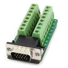 D-Sub DB15 VGA Мужской 3row 15pin разъем к терминалу печатной платы Инструменты для наращивания волос
