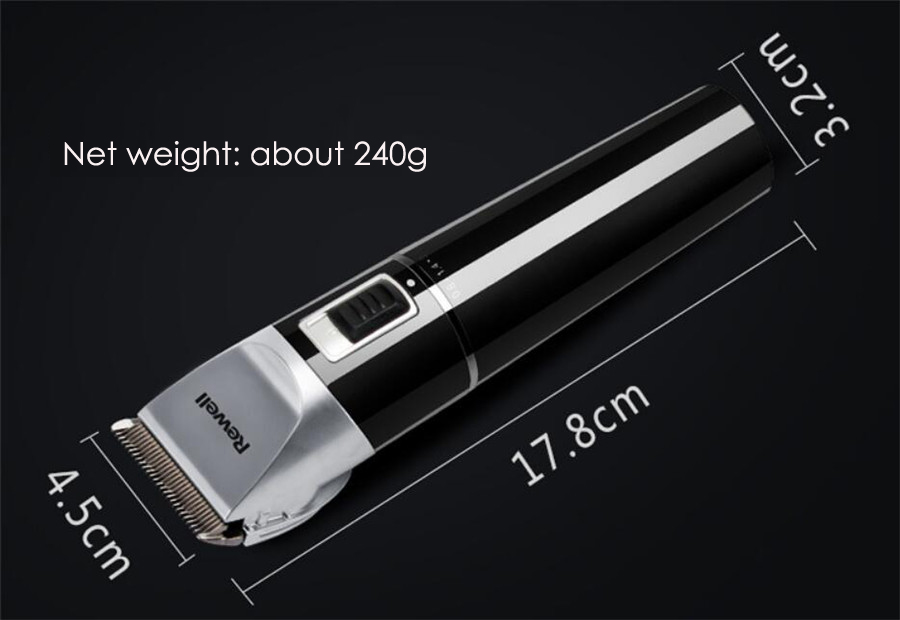 Image 5 - Rewell Professional Hair Clipper Rechargeable Hair Trimmer 2500mA Lithium battery Titanium alloy Blade Cutter Turbo for Barber-in Hair Trimmers from Home Appliances