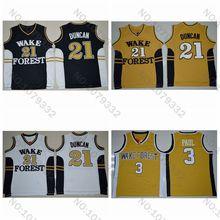 14894c5f529 Wake Forest Demon Deacons 3 Chris Paul Shirts Jersey 21 Tim Duncan College  Basketball Jerseys University