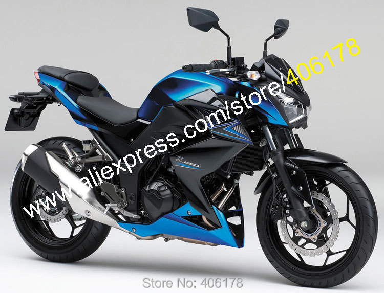 Hot Sales,For Kawasaki Z250 2015-2016 Z-250 Z300 15-16 Z-300 Blue Black Sportbike Bodywork ABS Fairing Kit (Injection molding) hot sales 100% fitment fairing for honda nsr250r mc21 90 91 92 93 1990 1993 nsr 250 r rothmans fairings injection molding