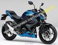 Ventas calientes, para kawasaki z250 z300 2015-2016 z-250 15-16 z-300 azul negro carenado de la carrocería abs sportbike kit (moldeo por inyección)