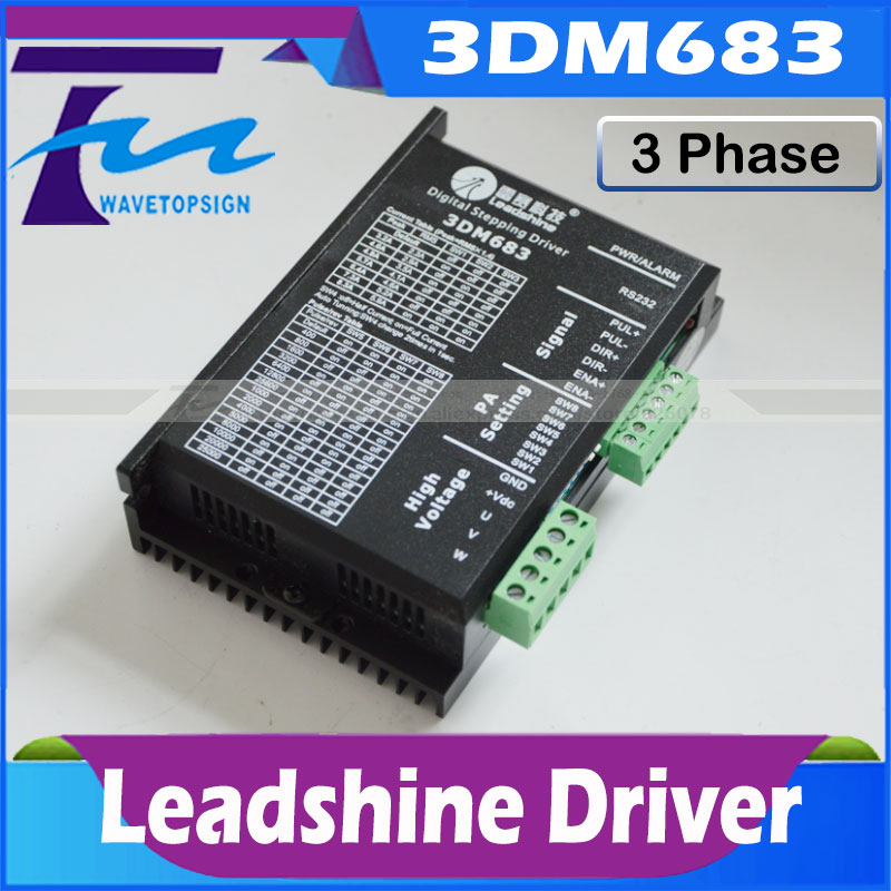 Leadshine 3 Phase Analog Stepper Driver 3DM683 use for co2 laser engraving and cutting machine match with 57 serial step motor industrial cooling machine cw5200 laser chiller cw5200 use for laser engraving and cutting machine