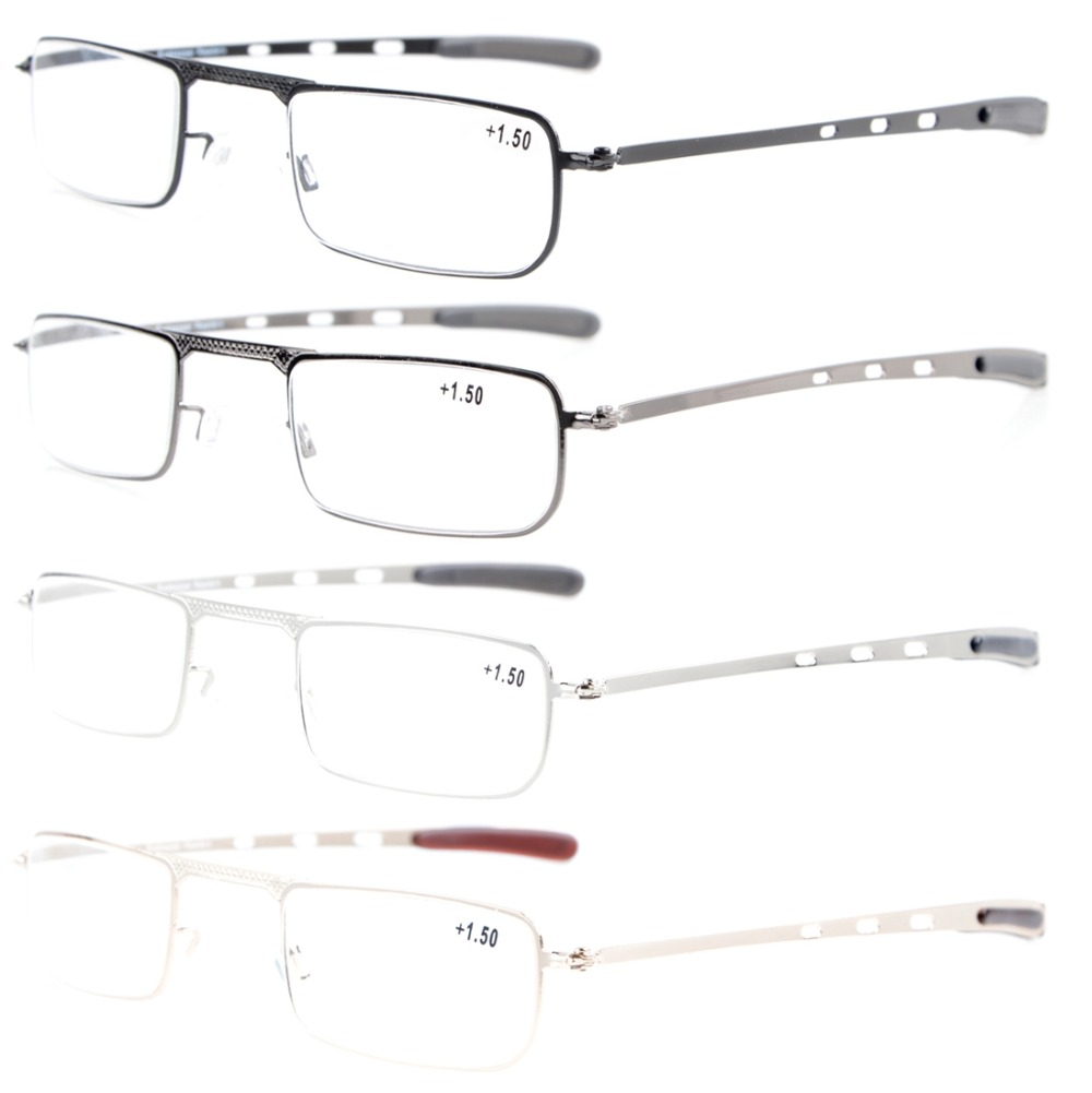 R1601 Eyekepper 4 Pack Small Lens Half-eye style <font><b>Mens</b></font> Womens <font><b>Reading</b></font> <font><b>Glasses</b></font> +1.0/1.25/1.5/1.75/2.0/<font><b>2.25</b></font>/2.5/2.75/3.0/3.5/4.0 image