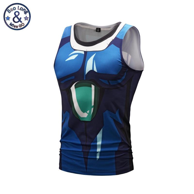 Anime Dragon Ball Tee Shirt 3D Broli Vegeta Printed   Tank     Top   Slim Fitting Bodybuilding Clothes Sleeveless Shirt Camisa Masculina