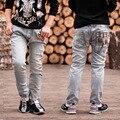 Бесплатная доставка Мальчиков Джинсы Весна и Осень дети брюки мальчики детские Стрейч джокер джинсы детские джинсы