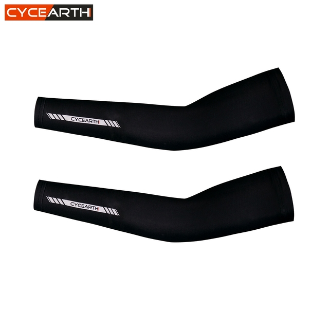 CYCEARTH 2018 Unisex Summer Bike Lycra Cycling Arm Sleeves UV Protection Arm Sleeves Warmers Breathable Bicycle Arm Covers