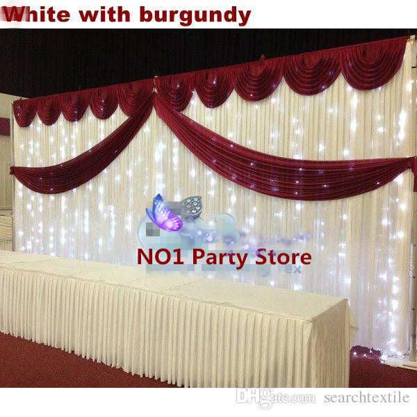Purple swag wedding backdrop with swag 36m pleated wedding purple swag wedding backdrop with swag 36m pleated wedding decoration backdrop curtain free dhl in party backdrops from home garden on aliexpress junglespirit Image collections