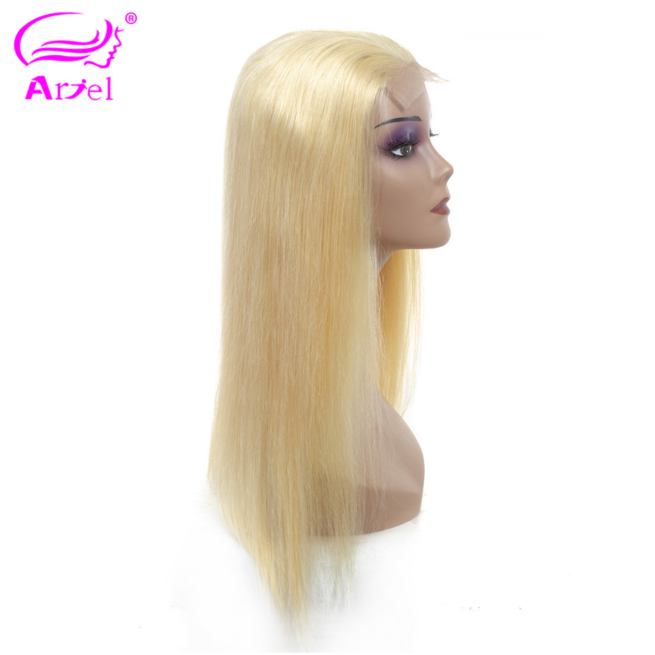 ARIEL 613 Lace Front Human Hair Wigs For Black Women Remy Indian Blonde Straight Hair Short
