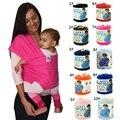 Algodão elástico Crianças Carrega Dois Ombros Sólidos Respirável Mochilas Portador de Bebê Hipseat Belt New Envoltório Estilingue Do Bebê Do Produto