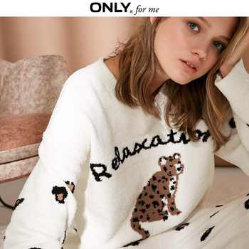 ONLY  Women's Fleece Knitted Pullover Soft fabric Sleepwear |118424509 - DISCOUNT ITEM  75% OFF All Category