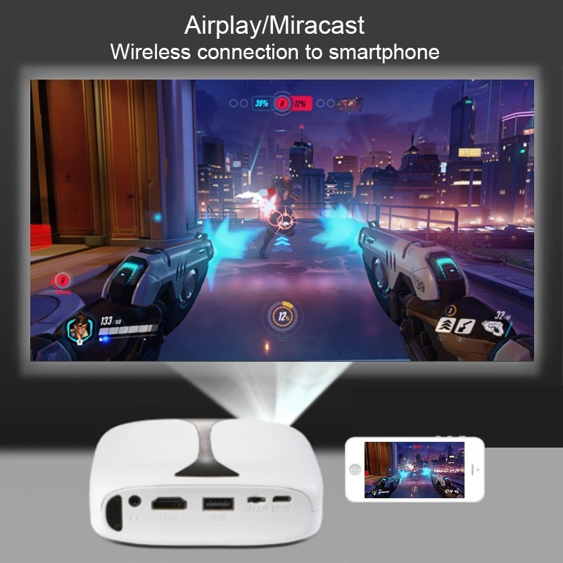 Image 5 - Everycom RD606 Mini Projector HD LED DLP 3d Wifi Projector Optional Android 7.1 Pocket Pico Projectors Battery Support 1080p