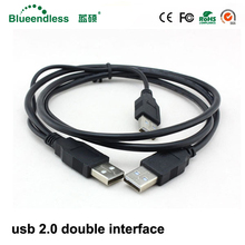 1m usb 2 0 Data Cables 480Mbp s usb cable male to male Data line double