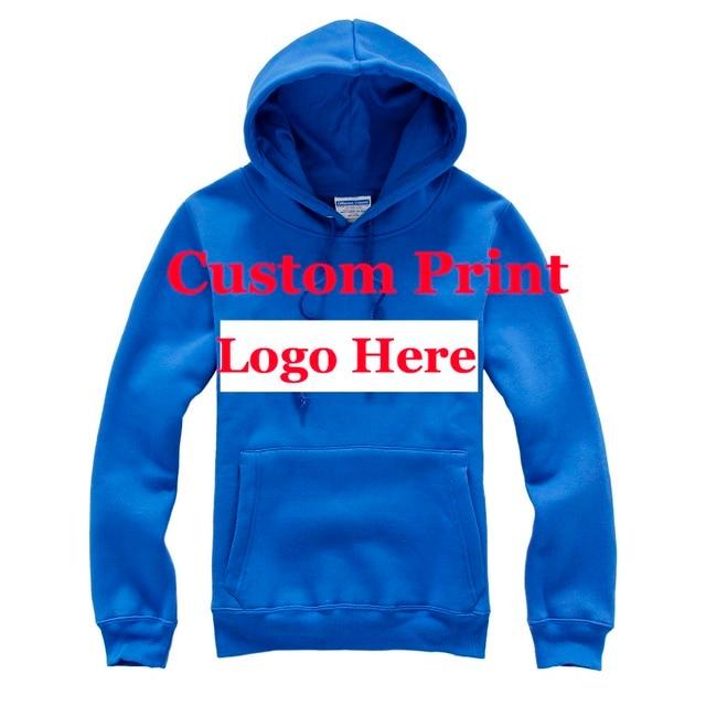 5277764f655 Custom Print Logo Hoody Unisex Customized Made Silk Screen Embroidery Heat  transfer Digital Print DIY Company Office Logo Hoodie