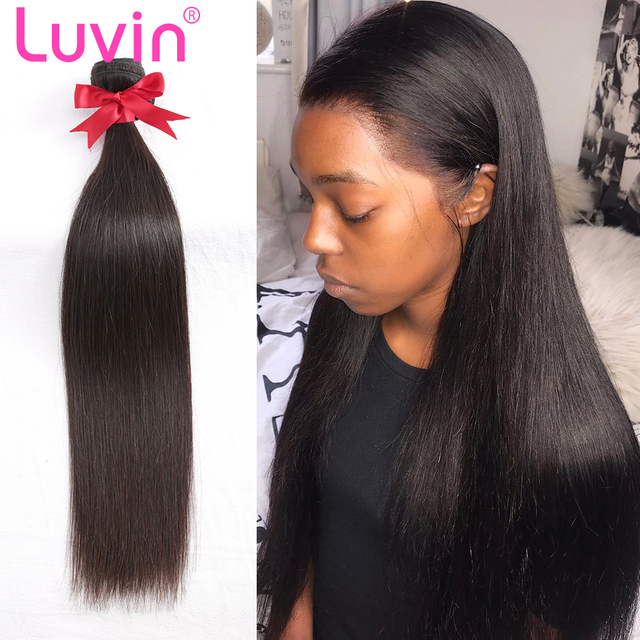 Luvin Raw Indian Hair Bundles Straight Human Virgin Hair Weave 1PC Hair  Extensions 12-24inch Natrual Color 19aefd895