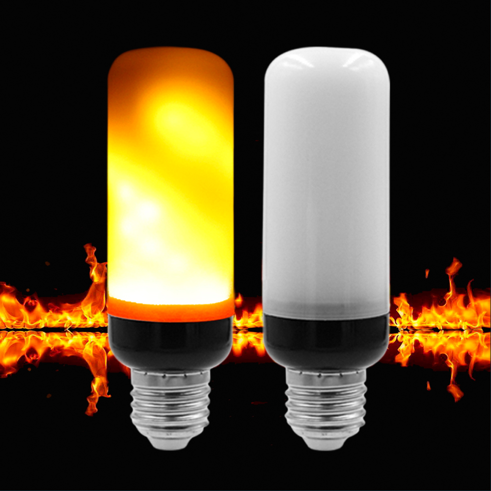 E27 E26 E14 E12 Base Mini LED Flame Lamp 7W AC85-265V Flickering Effect Lighting Bulb For Room Decorative Atmosphere Light chinese style rustic lantern bamboo rattan knitted classical led pendant light bedroom e26 e27 7w bulb 96 240v decorative lamp