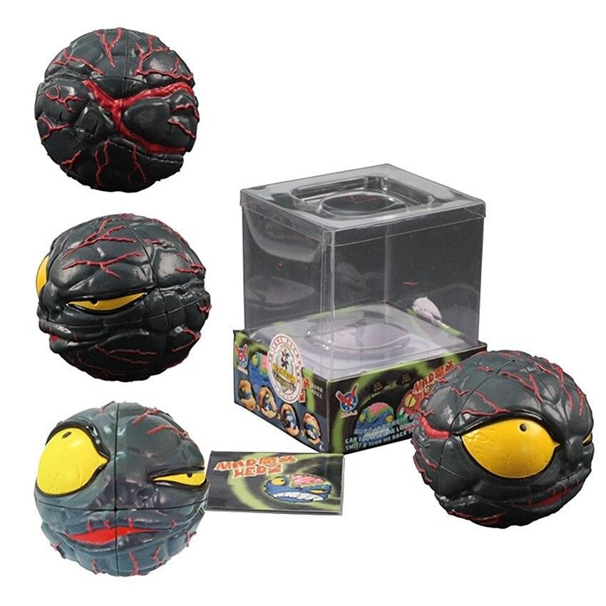 Verrückte Gehirn 2x2x2 Puzzle Ghost Schädel Kopf Cartoon Unregelmäßige Cube Monster Kopf Puzzle Geschwindigkeit 3d Magie Würfel Kinder Spielzeug Geschenke Sammeln & Seltenes