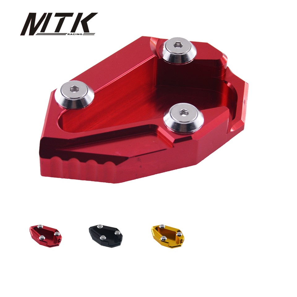 MTKRACING Motorcycle parts CNC Kickstand Side Stand Pad For Ducati Diavel Cromo AMG 2012 2013 2014 2015 2016 Side Stand Pad for bmw f800r 2009 2012 2013 2014 hp2 08 motorcycle cnc aluminum side stand enlarger cnc kickstand pate pad side stand enlarger