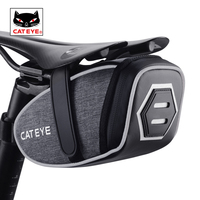 CATEYE Cycling Saddle Tool Bags Waterproof Reflective Bike Bag 3D Shell MTB Seatpost Tools Kit Tail