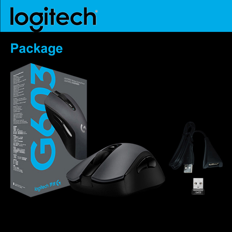 Original Logitich G603 LIGHTSPEED Wireless Gaming Mouse 12000 DPI Optical Bluetooth Mouse for PC Laptop Ergonomic Official Agent image